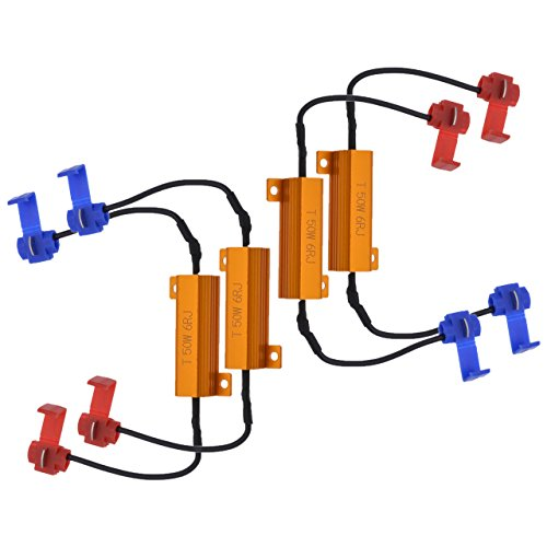 Resistencias de carga para LED, de NGCAT; 50 W, 8 Ohm (4 unidades)
