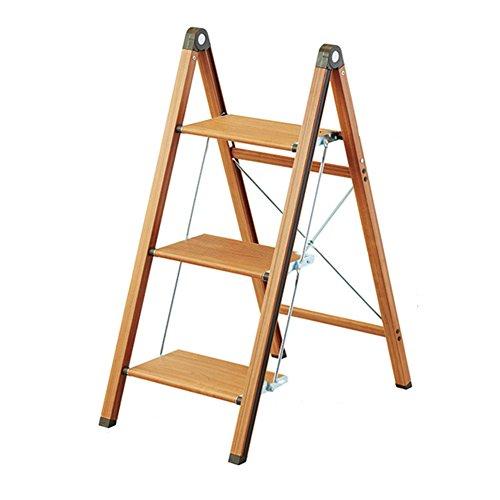 Stool Ladder- Banc à échelle étroite ménagère pliante en aluminium échelle en chevrons étagère à étagères (taille : 3layer)