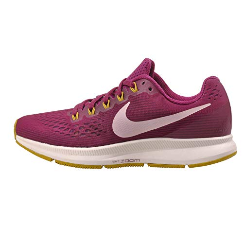 Nike Womens Air Zoom Pegasus 34 Mesh Low Top Running Shoes Purple 9 Medium (B,M)