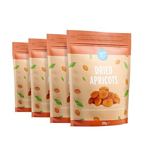 Marque Amazon - Happy Belly Abricots Secs, 300gr x 4