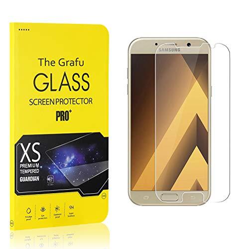 The Grafu Vetro Temperato Compatibile con Galaxy A3 2017, Alta Trasparenza, Nessuna Bolla, Durezza 9H Pellicola Protettiva in Vetro Temperato per Samsung Galaxy A3 2017, 2 Pezzi