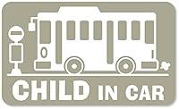imoninn CHILD in car ステッカー 【マグネットタイプ】 No.61 バス (グレー色)