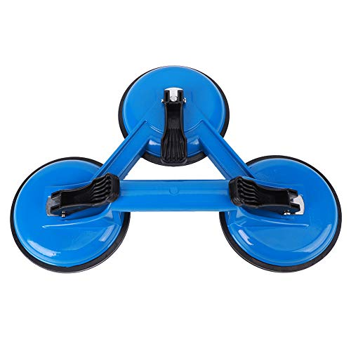 Ventosa in vetro di alta qualità, 3 tazze di aspirazione in lega di alluminio e gomma in lega di vetro, 325 x 117 mm, colore: blu