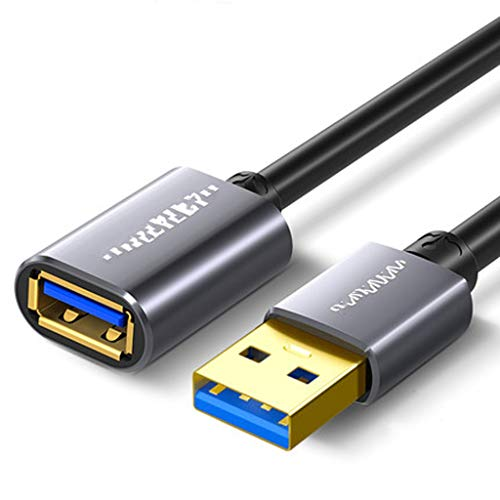 Hubs USB 3.0 cable de extensión USB, cable USB SuperSpeed ​​USB 3.2 Cable tipo A macho a hembra de extensión USB 3.0 cable de extensión for Flash Drive impresora, Playstation, Xbox, USB, lector de tar