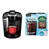 Keurig K-Classic Coffee Maker with Green Mountain Coffee Roasters Brew Over Ice Classic Black, 72 Count