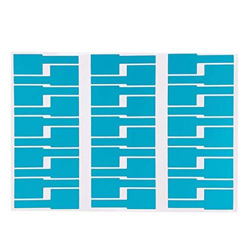 30 Stück selbstklebende Kabel-Etiketten Aufkleber Wasserdicht Marker Kabel Identifikation Tags Arbeit mit L`aser Drucker
