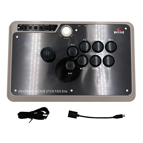 MAYFLASH Arcade Stick F500 Elite with Sanwa Buttons and Sanwa Joysticks for Xbox Series X/PS4/PS3/Xbox One/Xbox 360/Nintendo Switch/Android/PC Windows/NEOGEO Mini/SEGA MEGA Drive/SEGA Genesis