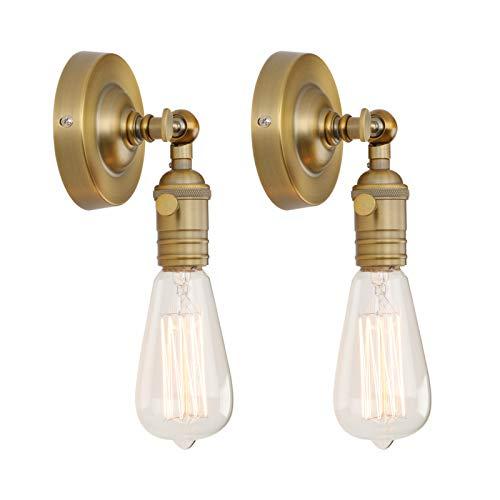 Phansthy 2 Stücke Vintage Industrie Loft-Wandlampen Wandbeleuchtung Wandleuchten Antik Deko Design Wandbeleuchtung Küchenwandleuchte (antike Farbe)