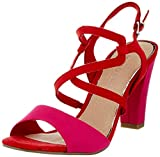 MARCO TOZZI 2-2-28350-24, Sandali con Cinturino alla Caviglia Donna, Rosso (Red Comb 597), 37 EU