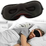 Sleep Eye Mask for Men Women, Eye Covers for Sleeping 100% Cotton Blackout for Travel no Foam with Adjustable Strap