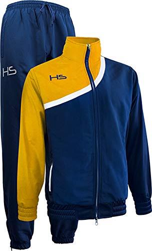 HS Free Time F15 Fairplay, Tuta Unisex – Adulto, Blu Navy/Bianco/Giallo, S