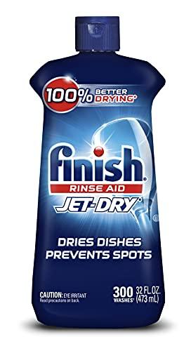 Best dishwasher rinse aid - Finish Jet-dry, Rinse Agent, Ounce Blue 32 Fl Oz