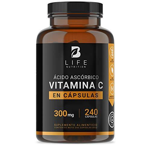Vitamina C 300 mg 240 Cápsulas B Life.