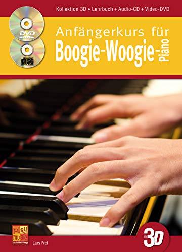 Anfängerkurs für Boogie-Woogie-Piano in 3D - 1 Buch + 1 CD + 1 DVD