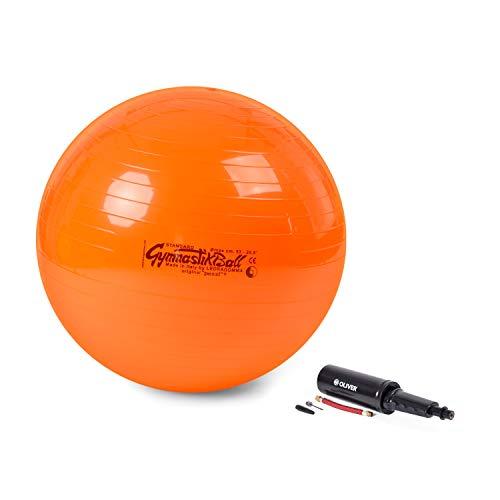 PEZZI Original Pezziball Standard 53 cm m. Pumpe orange Sitzball
