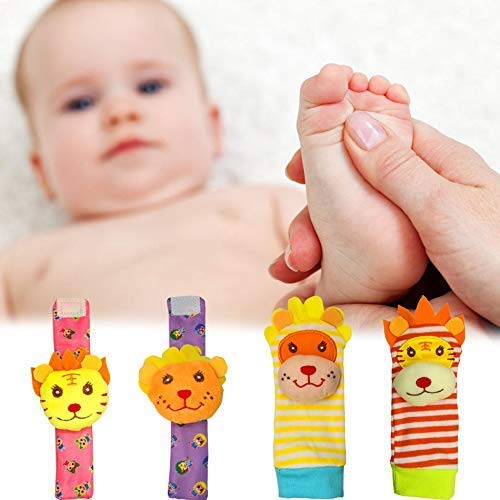 Cheap Foot Finders & Wrist Rattles socks for Infants Developmental Texture, cute animal Toy Toys Bab...