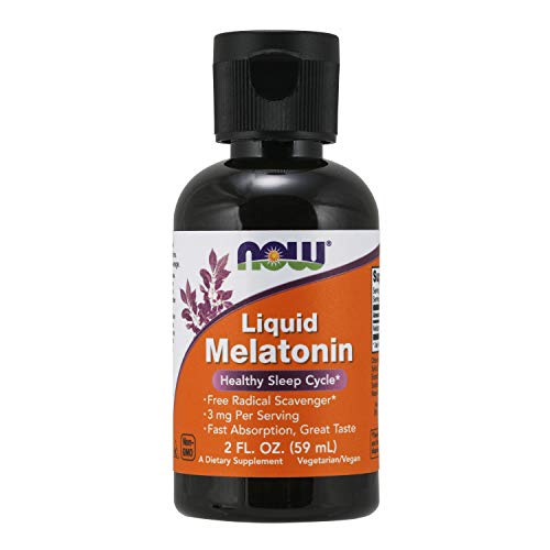 NOW Supplements, Liquid Melatonin, 3 mg Per Serving, Fast Absorbtion and Great Taste, 2-Ounces