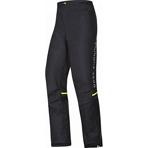 GORE RUNNING WEAR, Pantalón de correr para hombre, Ultra ligero, Resistente al viento, GORE WINDSTOPPER Active Shell, FUSION, Talla M, Negro, PWULTR990004