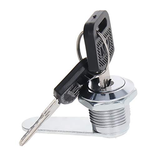 MroMax - 1 juego de cerradura para cajón, armario, escritorio, mesa de oficina con 2 llaves