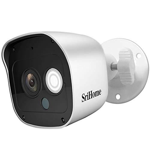 Srihome SH029 3MP Ultra HD 1296p Wireless WiFi Waterproof Indoor/Outdoor CCTV IP Security Camera - White, (Model: SrihomeSH029)