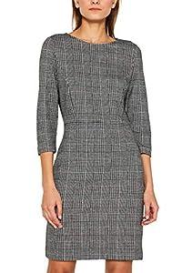 ESPRIT Damen 109Ee1E022 Kleid, Schwarz (Black 2 002), Small (Herstellergröße: S)