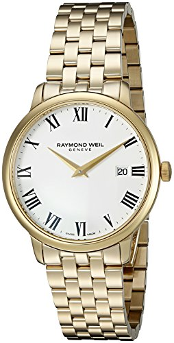 Raymond Weil Herren Analog Quarz Uhr mit Edelstahl Armband 5488-P-00300