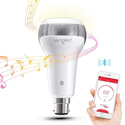 Sengled Pulse Solo ampoule Led Blanc Chaud 2700k avec Haut Parleur Bluetooth JBL,6W(équivalent ampoule incandescente de 40w),Culot B22,Fonctionner avec Amazon Alexa