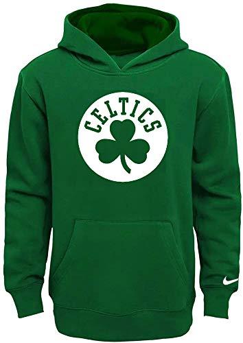 Nike NBA Boys Youth 8-20 Primary Logo Essential Fleece Pullover Hoodie Sweatshirt (Boston Celtics, Youth Large 14-16)