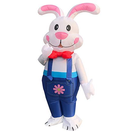 GRANDLIN Disfraz inflable de conejo de Pascua disfraz de Halloween, csped inflables para el hogar, familia, decoracin exterior, lindo conejo, disfraz al aire libre