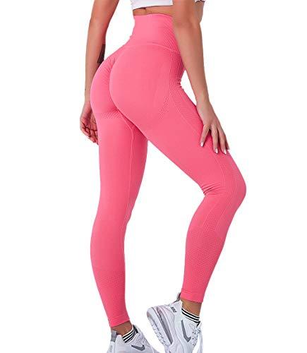 KIWI RATA Leggings Push up Mujer Fitness Mallas Pantalones Deportivos de Cintura Alta Yoga Leggins Pantalón Sin Costuras para Deporte Running Elásticos y Ajustados