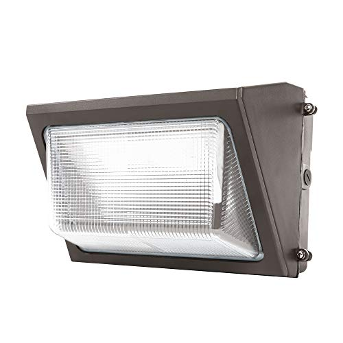 Sunco Lighting 80W LED Wall Pack, Daylight 5000K, 7600 LM, HID Replacement, IP65, 120-277V, Bright Consistent Commercial Outdoor Security Lighting - ETL