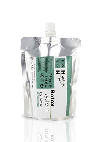 Pop Italy Mascarilla capilar al Botox Rellenante Antienvejecimiento con exclusivo Botox Replumping System - 250 ml
