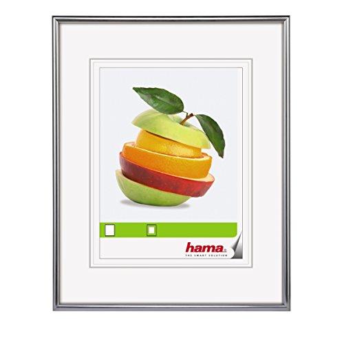 Hama Fotolijst Sevilla, 13 x 18 cm met passe-partout 9 x 13 cm, hoogwaardig glas, kunststof lijst, om op te hangen en neer te zetten