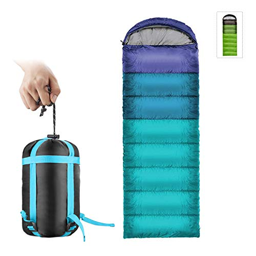 ieGeek Sleeping Bag - Ultralight Outdoor Envelope-Shaped Sleeping Bag Portable Compact with Compression Sack 3 Seasons Comfortable for Adults, Kids, Women, Men's Hiking, Outdoors, Mountaineering