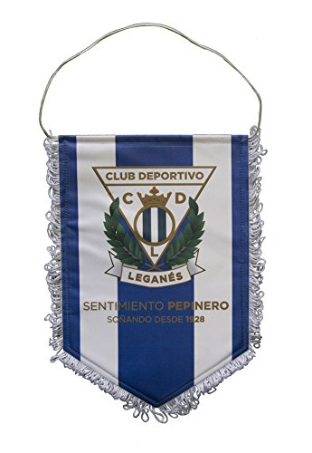CD Leganés banleg wimpelketting, wit/blauw, 28 x 19 cm