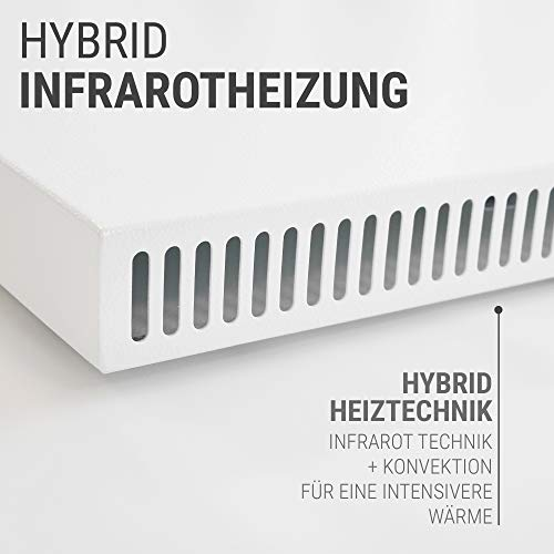 VASNER Konvi VE Hybrid Infrarotheizung mit Thermostat vertikal 1000 Watt Elektroheizung kaufen  Bild 1*