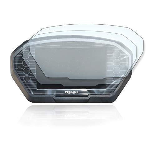 [2 Stück] Displayschutzfolie Tacho Schutzfolie geeignet für Triumph Tiger 800/1200 2x Ultra Clear
