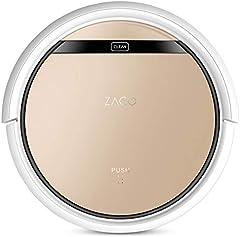 ZACO V5sPro 2 en 1 robot aspirador friegasuelos, 4 modos de limpieza y modo Max, aspirador para pelo de mascota, para suelos duros y alfombras de pelo corto, color dorado lujoso