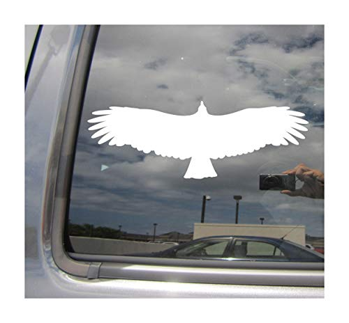 Right Now Decals - American Black Vulture - Scavenger Carrion - Cars Trucks Moped Helmet Hard Hat Auto Automotive Craft Laptop Vinyl Decal Window Wall Sticker 01491