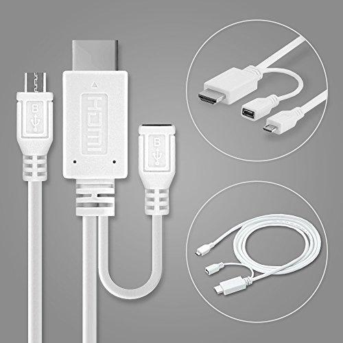 subtel Cable MHL Adaptador Micro-USB 5-Pin a HDMI, para HTC One M9...