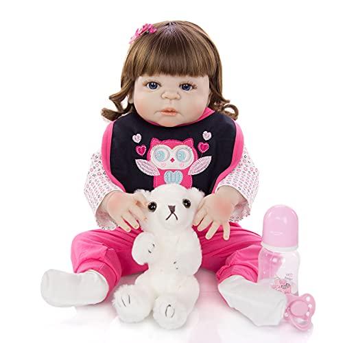 ZTLY Muñeca de Silicona, bebé renacido, simulación bebé, Adecuado como Regalo para la Familia.