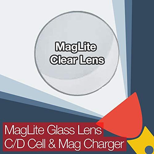MagLite Lentille de rechange en verre transparent pour piles C/D et chargeur MAG