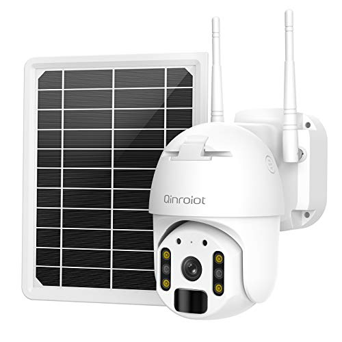 Solar Wireless Security Camera,26000mAh Battery Powered with WiFi/AP Mode Motion Detection Camera and Color Night Vision 2-Way Audio, Waterproof IP66, Spotlight, Cloud/SD Slot Storage