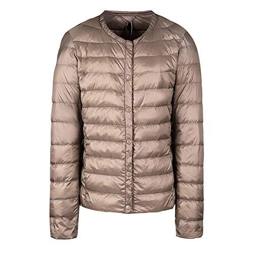 Packbar dunjacka kvinnor ultralätt kort vinter puffer kappa med handbagage väska S-XXXL