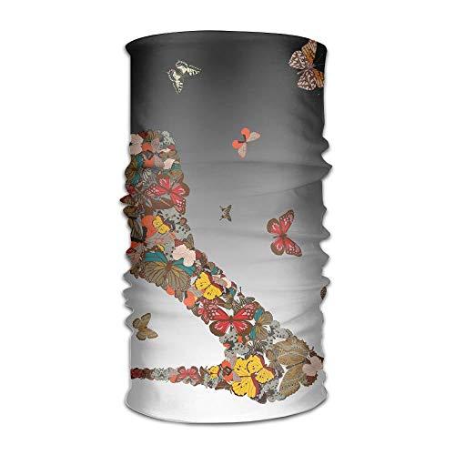 Annays Bandanas Coole Schmetterlinge High-Heel Schuh Weiß Bandanas Freunde Kopfbedeckung Gemütlich Outdoor Multifunktional Schönes Kopftuch Indoor Outdoor Atmungsaktiv Zu Fuß Motorrad FA