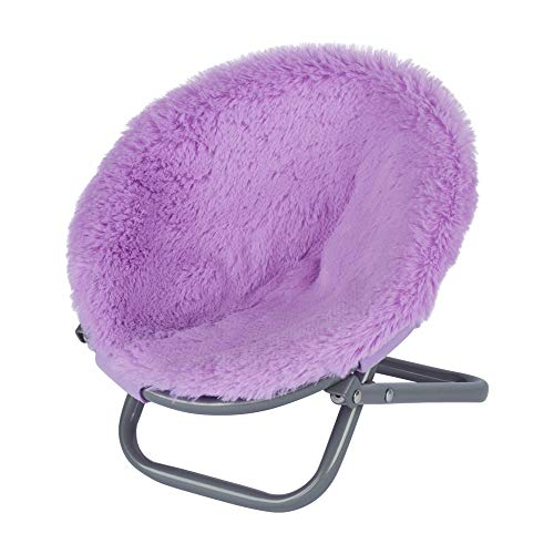 My Life As Lavender/Purple Saucer Chair for 18' Dolls