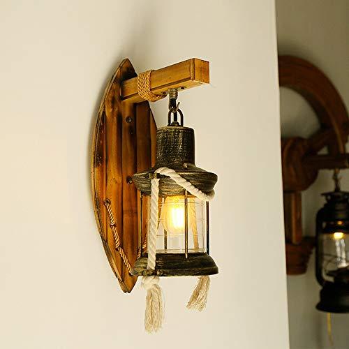 Hancoc lamparas Creativa Lámpara De Pared, Lámpara China Retro Retro Pared (Longitud: 21 Cm, Altura: 36 Cm, E27 Boca)