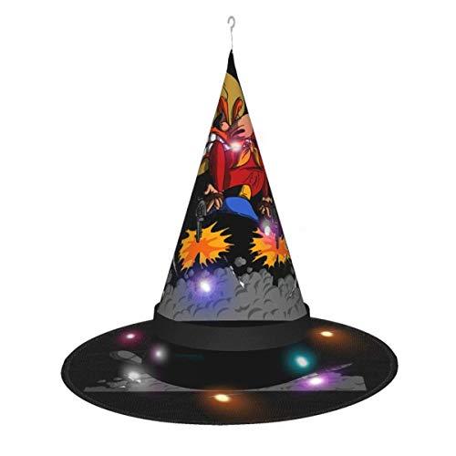 Sombrero de bruja de Halloween decoracin para cosplay de fiesta Looney Tunes Sombrero de bruja Yosemite Sam para mujer Disfraz Accory Black