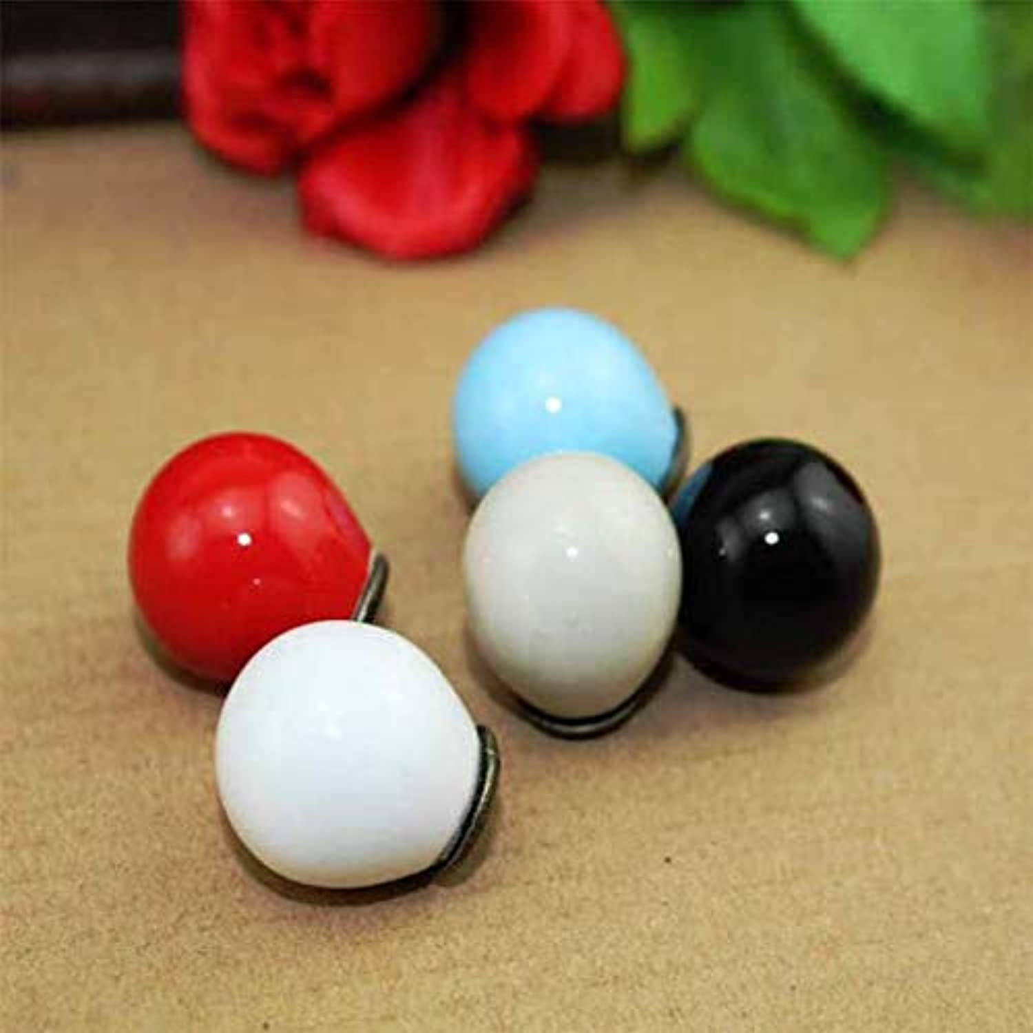 Value-5-Star - Dia 21mm Ceramic Ball Knobs Single Hole Round Furniture Handles Wardrobe and Cupboard knobs Drawer Dresser knobs Cabinet pulls