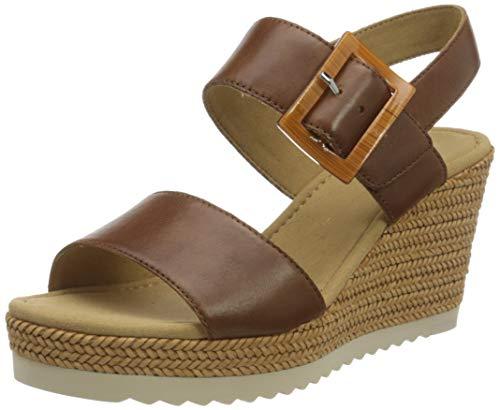 Gabor Shoes Damen Basic Riemchensandalen, Braun (Peanut 24), 41 EU